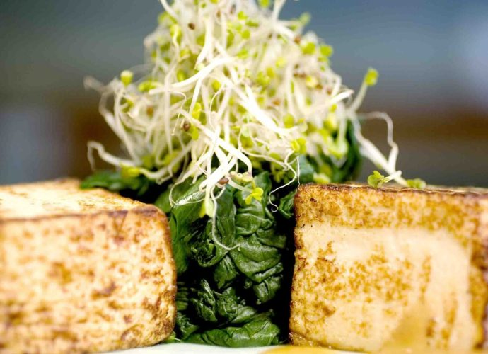 Maple spinach and tofu gluten-free and vegan recipe