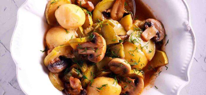 Gluten-free, vegan Portobello Mushroom Stew