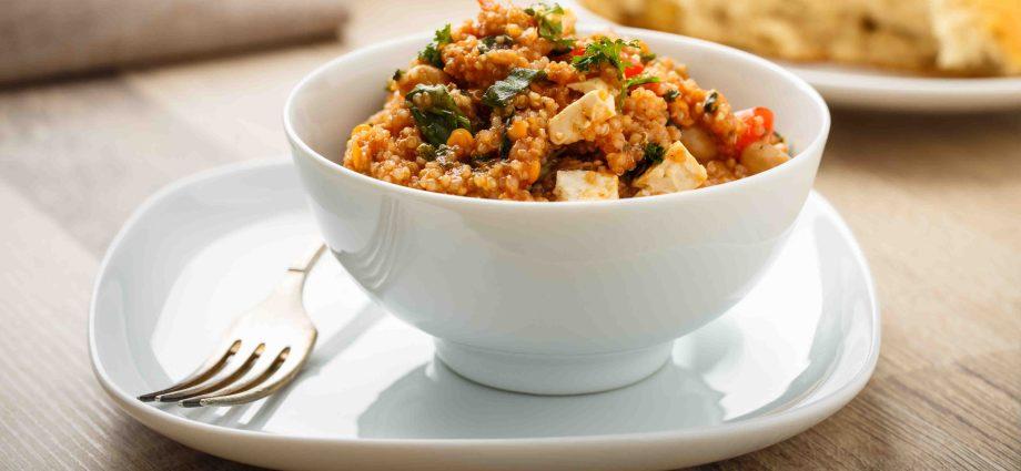 Quinoa Taboulé for virtual dinner party