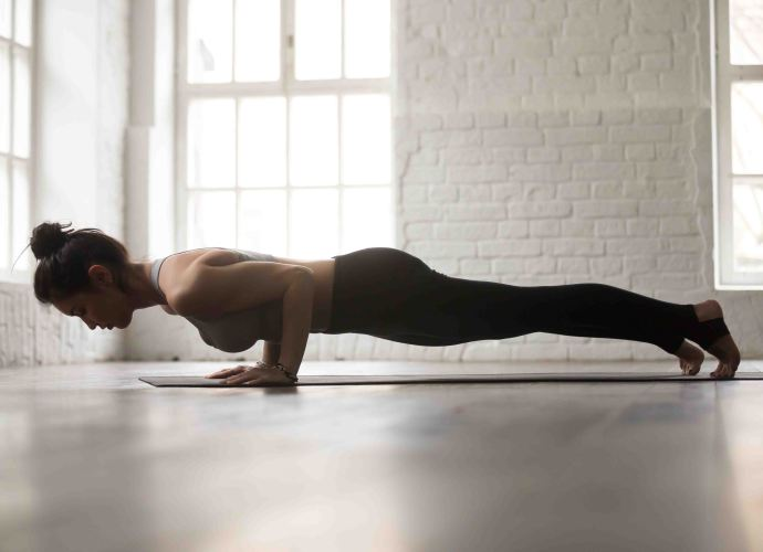plank for core strengthening