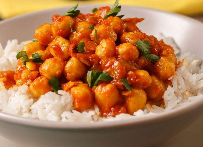 Chickpea channa curry