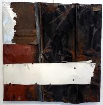 """White Stripe. Brandon Long. 36x36"""" Sold."""