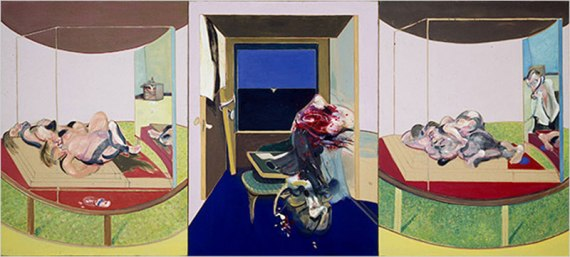 """Triptych Inspired by TS Eliot's Poem """"Sweeney Agonistes,"""" 1967"""