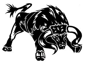 Tribal Style Black Bull