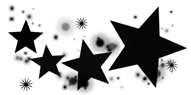 Black band of stars