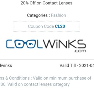 Contact glasses offer