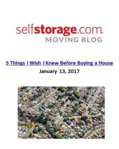 SelfStorage.com_5 Things I Wish I Knew Before Buying a House