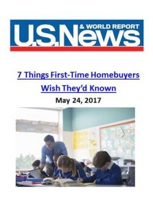 U.S. News and World Report_7 Things First Time Homebuyers Wish They'd Known