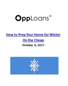 OppLoans_Winterizing Your Home For Winter on the Cheap
