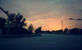 Driving past orange-pink skies to get to Target (where I spent far too much time).