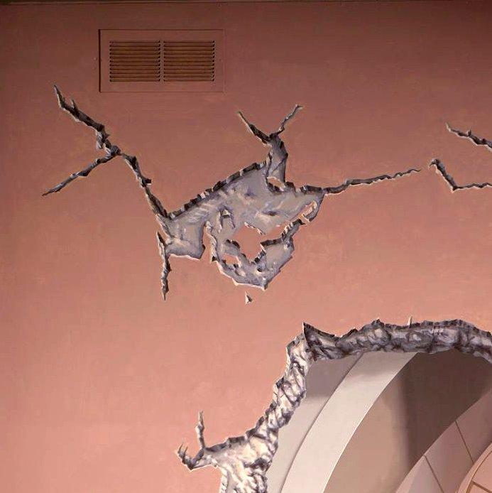 chair design hair washing for elderly colonnade, los gatos, ca - trompe l'oeil mural by john pugh
