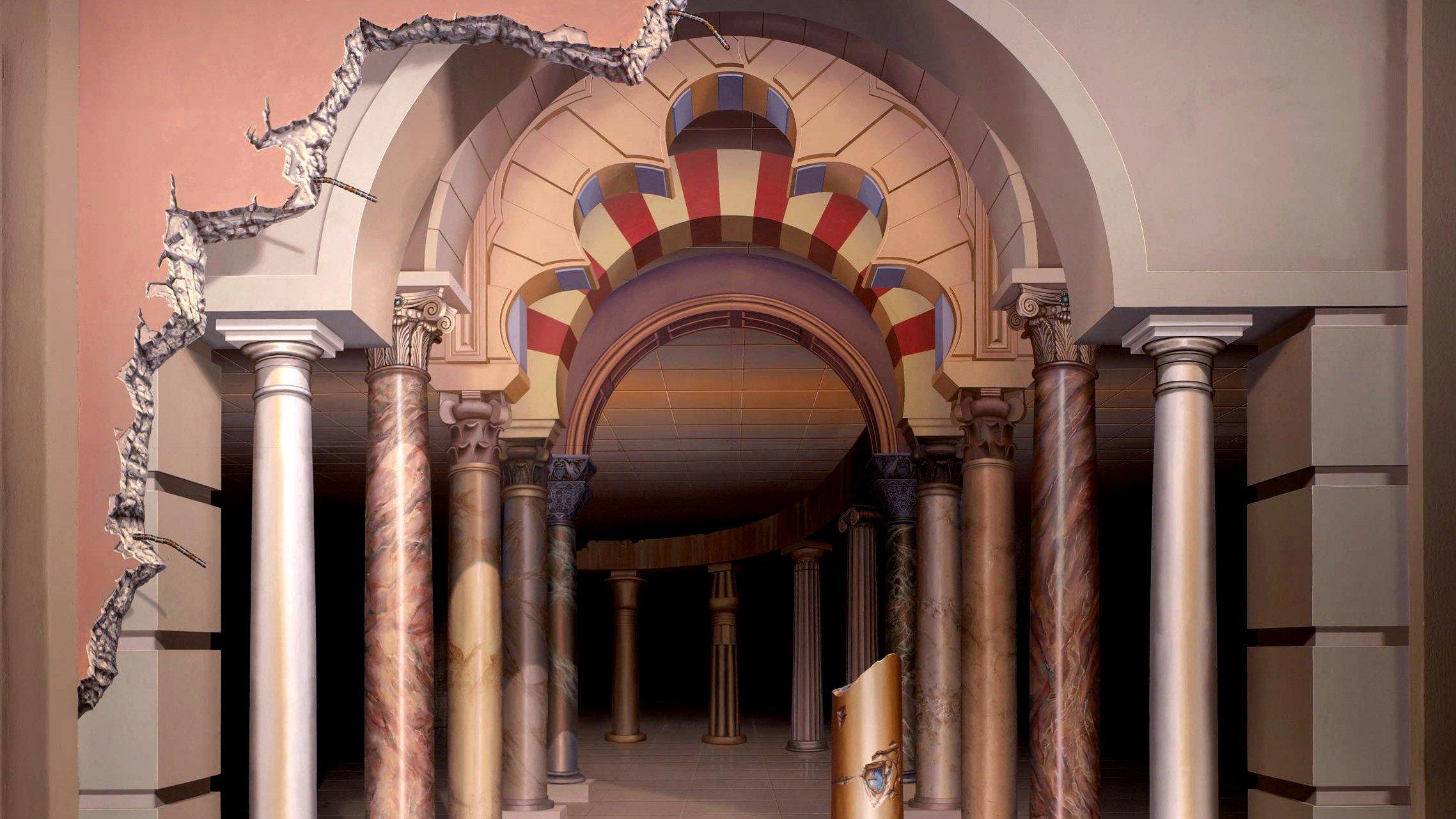Colonnade Los Gatos CA Trompe L'oeil Mural By John Pugh