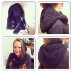 Hollie making a snood