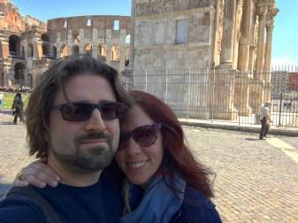 Outside the Colosseum