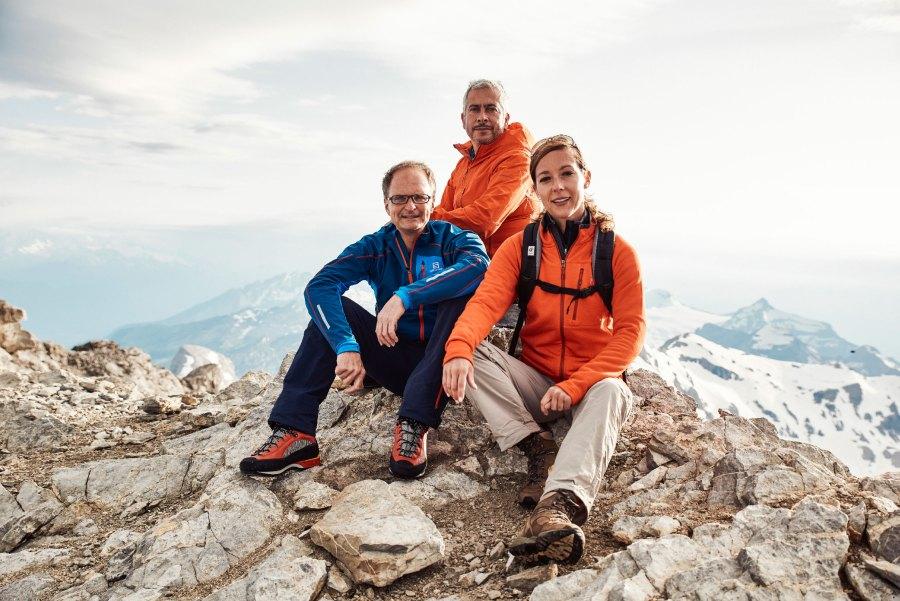Die Hoteliers Mirka Czybik, Günter Weilguni zusammen mit Freund und Investor Marwan Naja