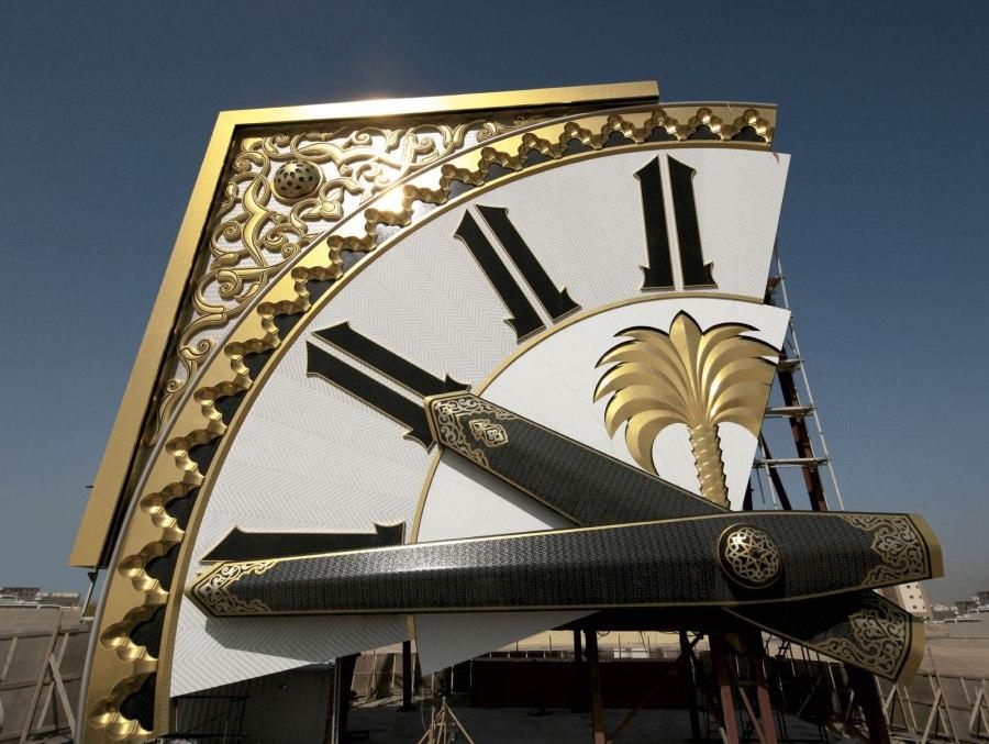Die riesigen Uhrzeiger