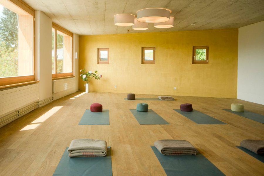 Yogaraum im Berghotel Sterna