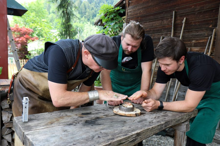 Team Wiesner entwickelt ein neues Gericht.