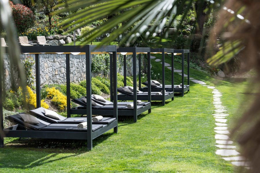 Relaxen im Gartenbereich.