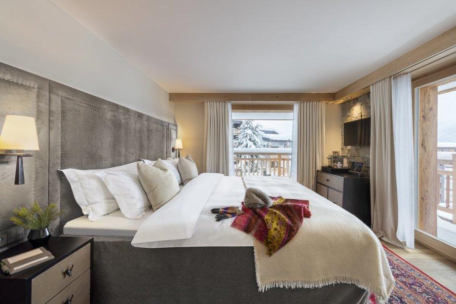 Diese Eckzimmer sind die größten und exklusivsten Zimmer im Hotel de Verbier.