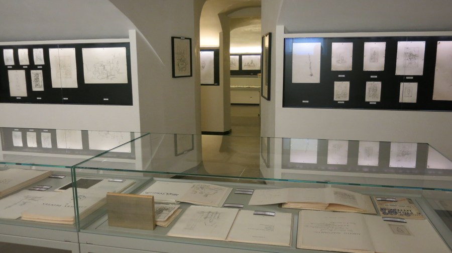 Skizzen des Bergeller Künstlers Alberto Giacometti