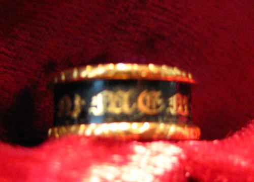 Broken gothic mourning band ring