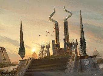 throne pharaoh mtg god amonkhet fantasy egypt magic concept ancient lunter titus room artofmtg gathering salvation cities