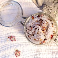 Homemade Rose Bath Salts for Valentine's Day