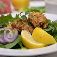 New Orleans Fried Oyster Salad