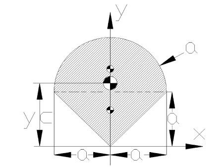 srodkiciezkosci4 - Środek ciężkości figury płaskiej - mechanika - zadanie 16