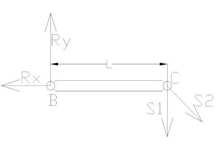 rozciaganie7 - Odkształcenie temperaturowe w układzie prętowym - zadanie 18