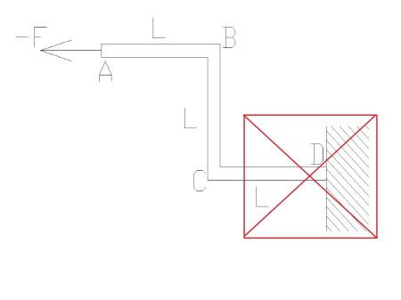 zlozona5 - Wytrzymałość złożona - rozciąganie ze zginaniem i ścinaniem - zadanie