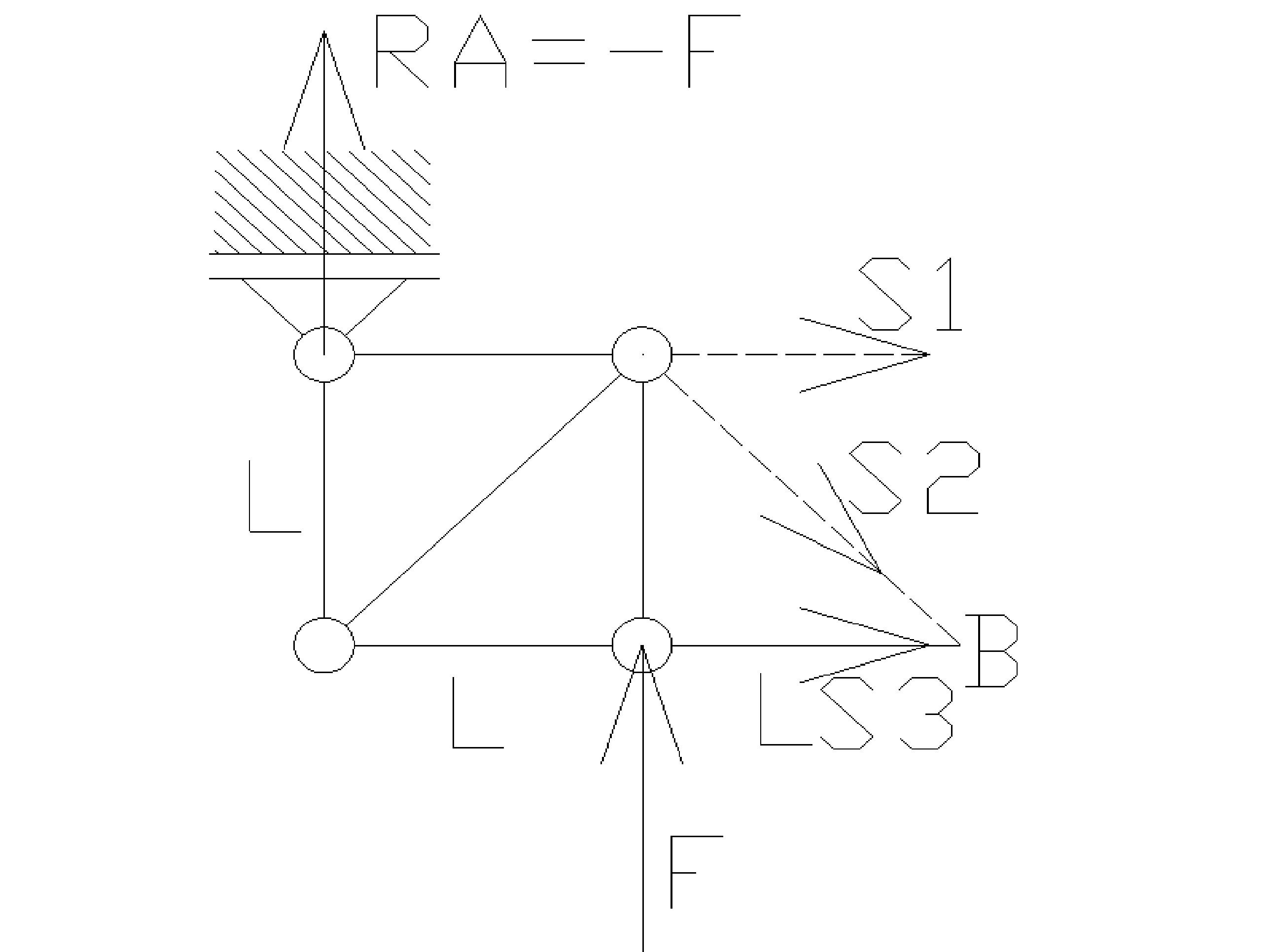 rozciaganie19 - Kratownica - metoda przecięć - statyka -zadanie 28