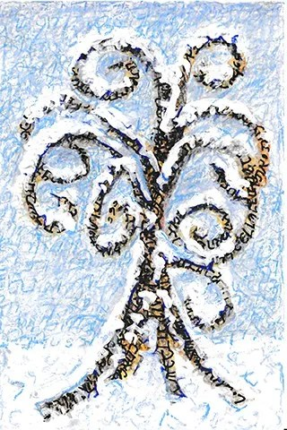 And You Shall Love... - Winter, Seasons of the Tree of Life. Strokes are the original Hebrew letters of Deuteronomy 6:5-9. Ungraven Image