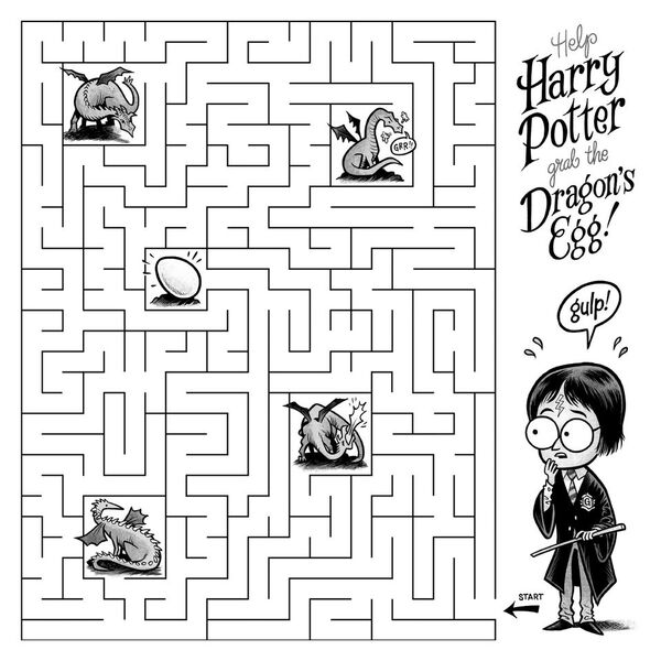 Check Out This Amazing Potter Maze Harry Potter And The
