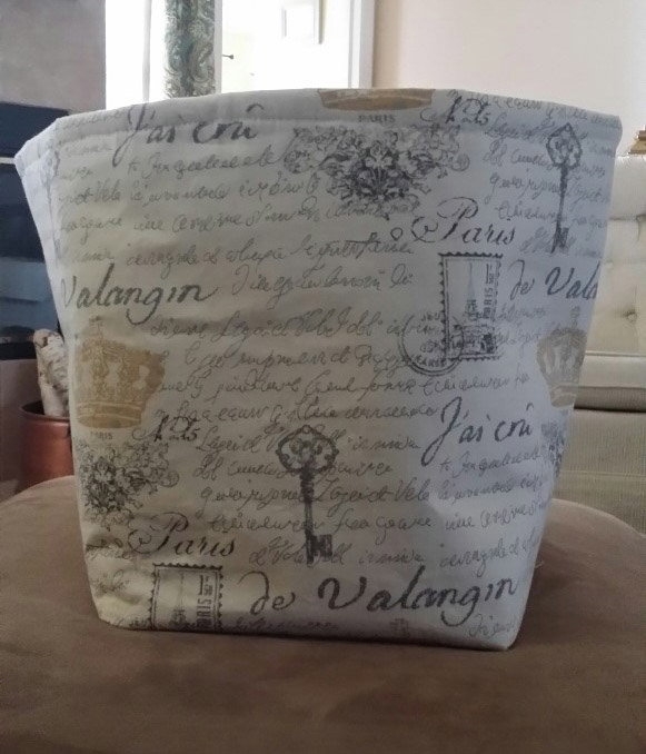 Finished fabric bin project
