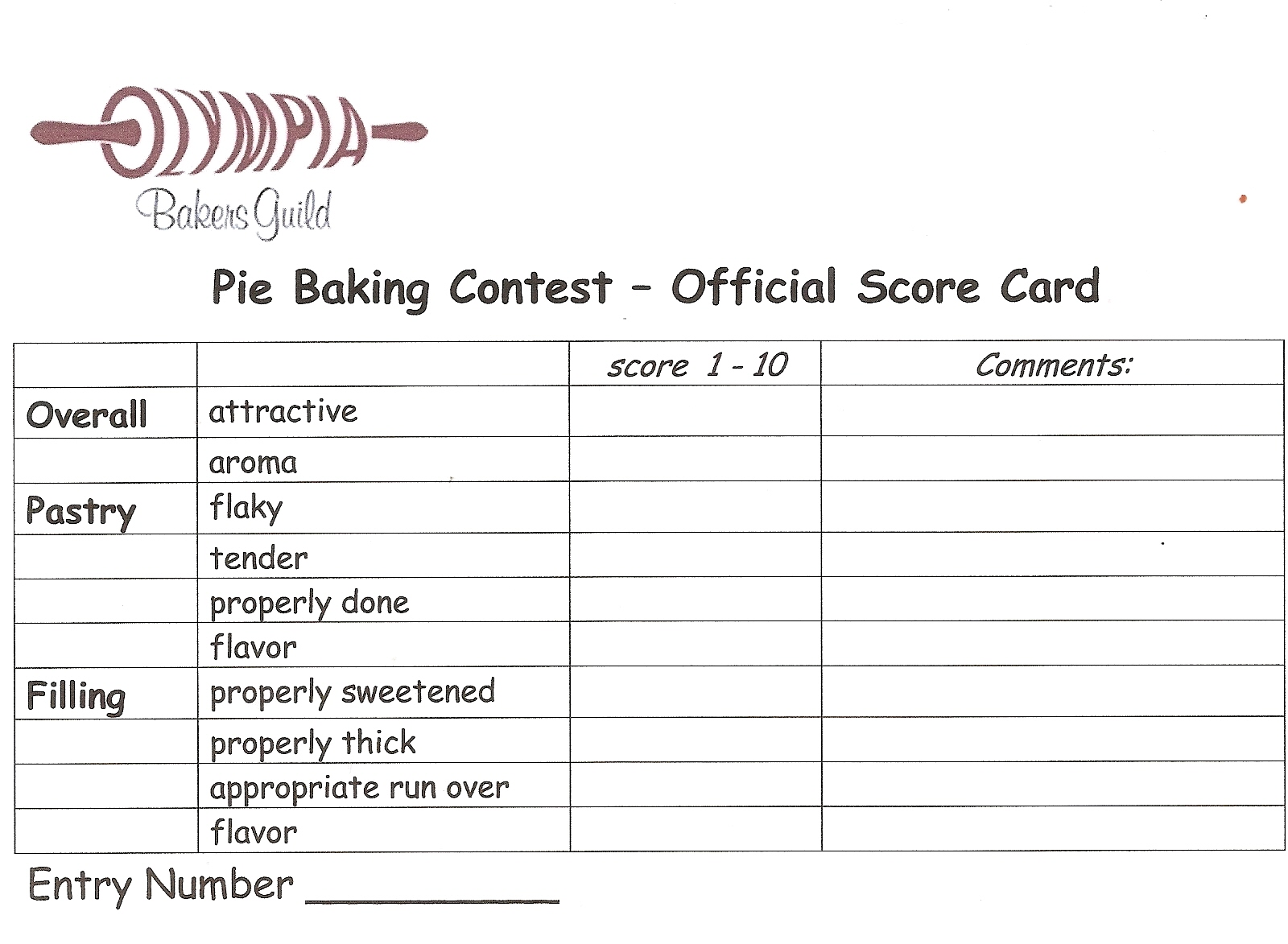 Pie Contests