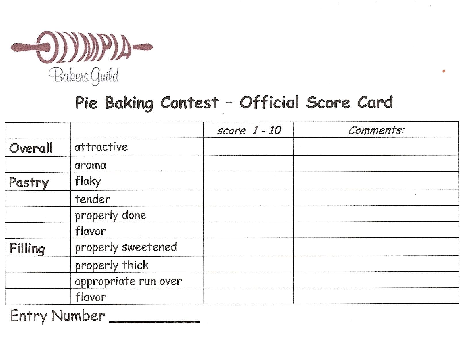 Pie Contests