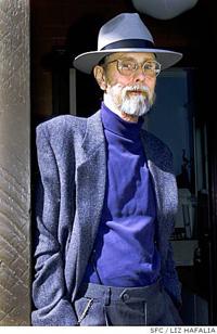 Bruce Conner, photo by Liz Hafalia, SFC
