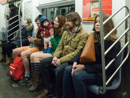 Improv Everywhere No Pants Subway 2015