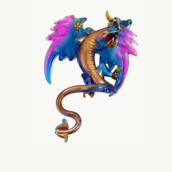 Mystical Turquoise Dragon Ornament Art of Toys