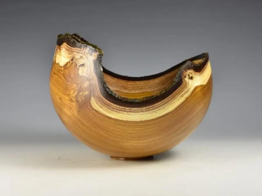 Natural Edge Laburnum Bowl