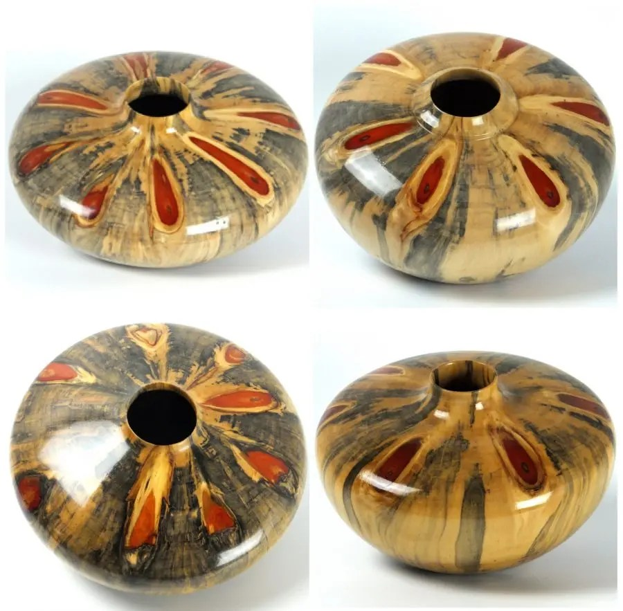 Wagon Wheel hollow form series. A series of four beautiful hollow form woodturnings. #ArtOfTurning #woodturning