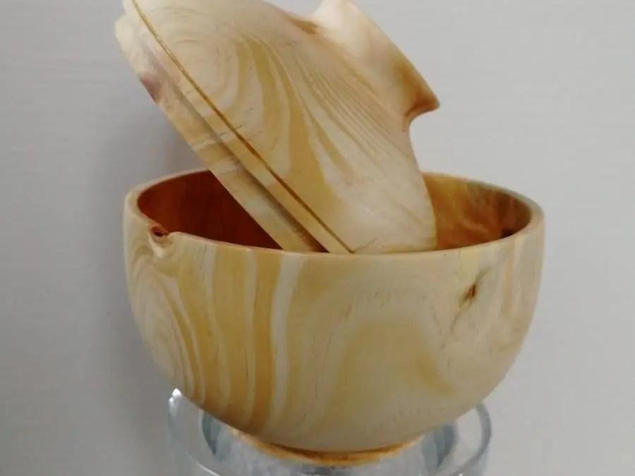 Wood Turned Pine Lidded Box