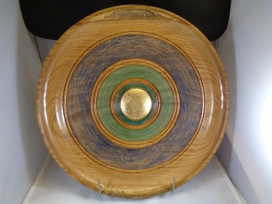 Ornamental Oak Woodturned Platter
