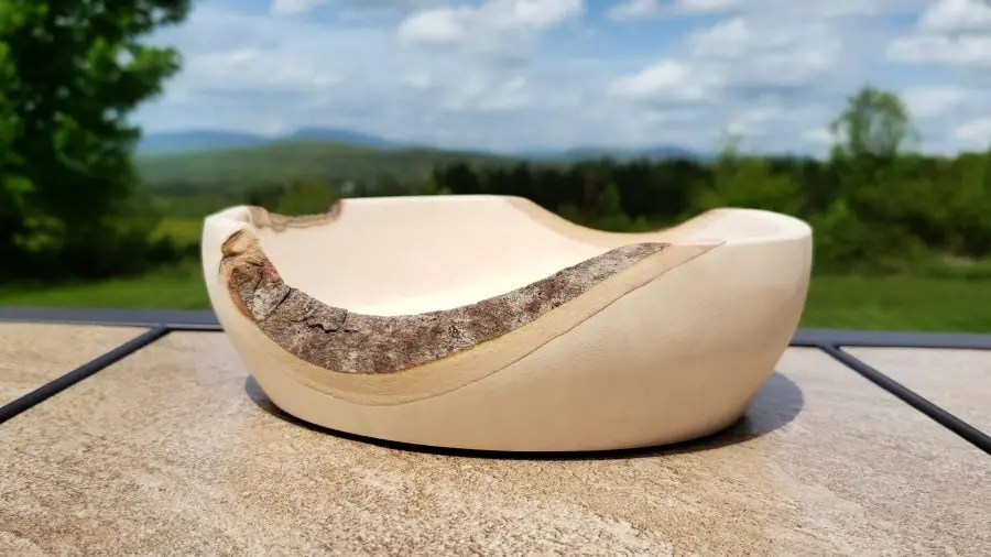 Maple Bowl with Live Edge