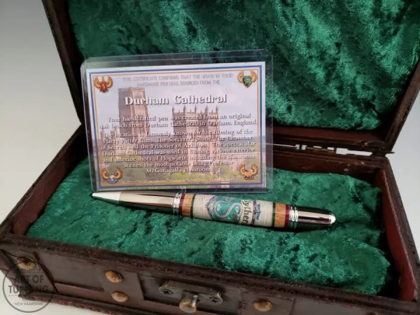 Harry Potter pen with Durham Cathedral Wood