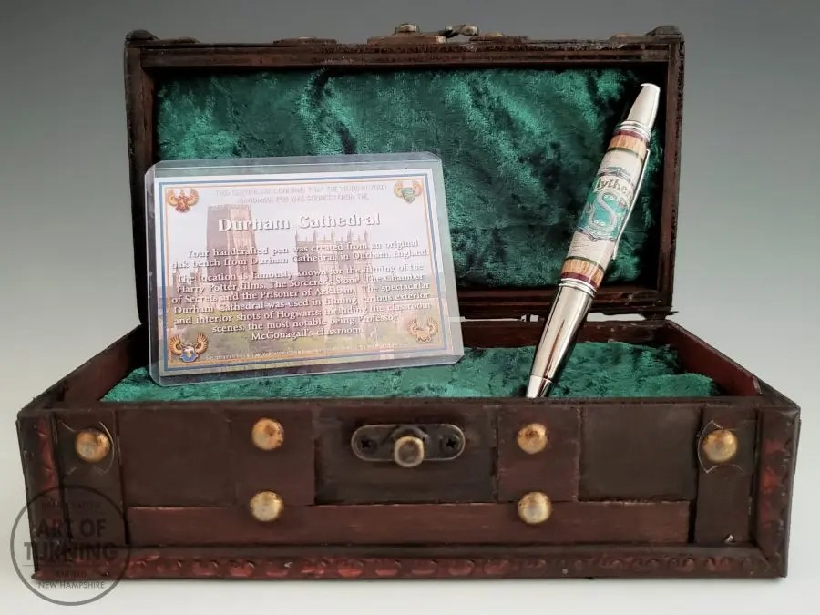 Harry Potter Gift Pen with Durham Cathedral Wood, Slytherin House