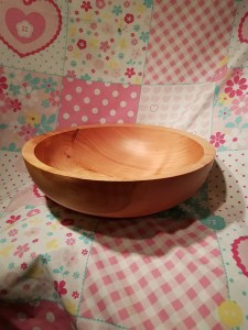 A wood turned bowl by Tom King