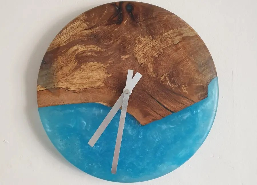 Mystery Wood and Resin Clock